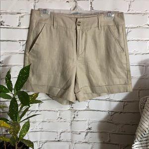 Nicole Miller Linen Shorts